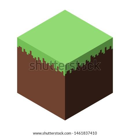 vector illustration of a block