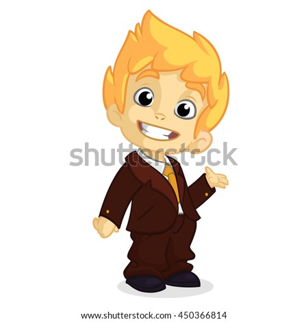 vector illustration of a blond