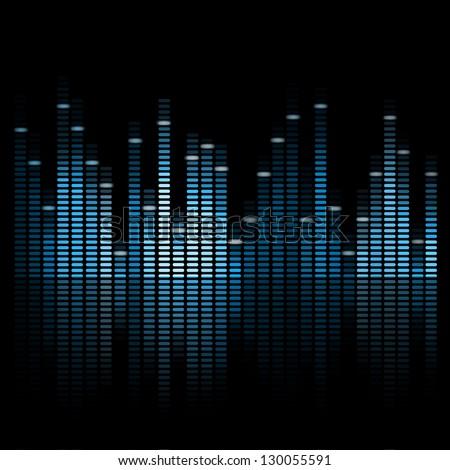 Vector Illustration of a Blue Music Equalizer