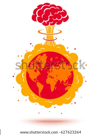 vector illustration of a bomb
