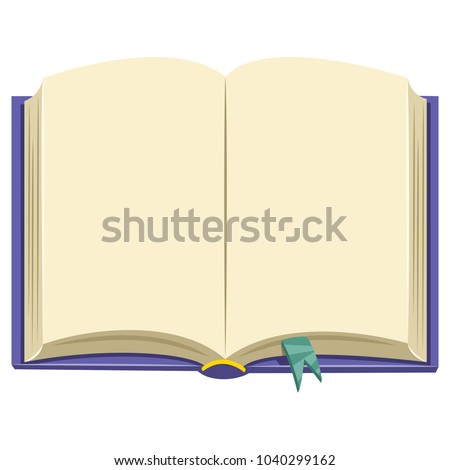 Vector Illustration Of A Book