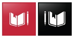 vector illustration of a book and pencil. Quality Education Icon for Corporate social responsibility. Sustainable Development Goals inspiration. Vector Icon. SDG.