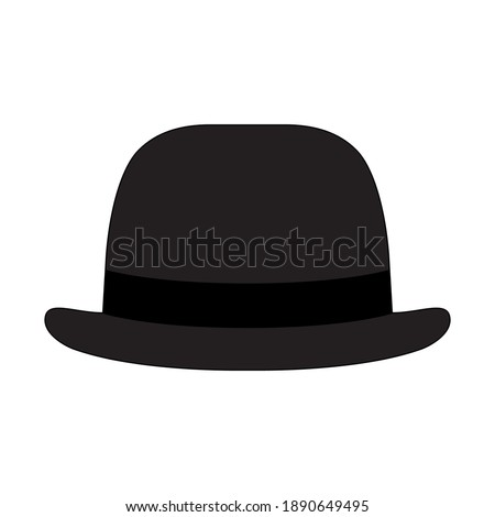 Vector illustration of a bowler hat, perfect for icons or use for clothing and fashion businesses Stockfoto ©
