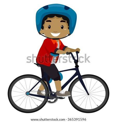 vector illustration of a boy