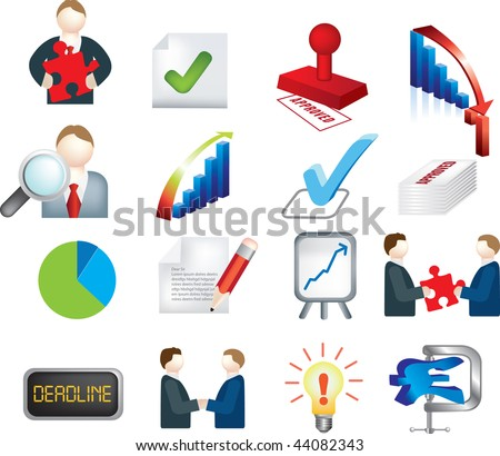 vector illustration of a business deals images