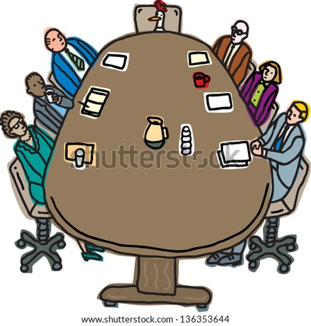 Vector illustration of a business meeting