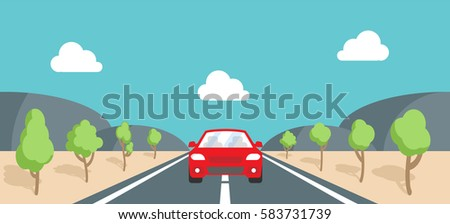 vector illustration of a car on