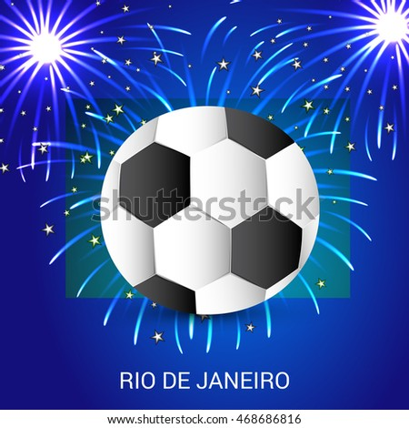 Vector illustration of a Celebration Background for Brazil Soccer.