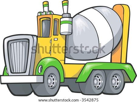 Vector Illustration of a Cement Truck