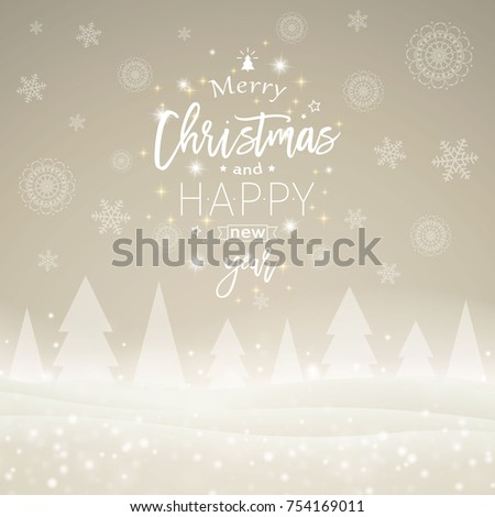 Vector Illustration of a Christmas Greeting Card Design