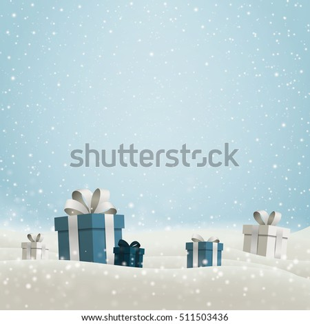Vector Illustration of a Christmas Holiday Design with Gift Boxes