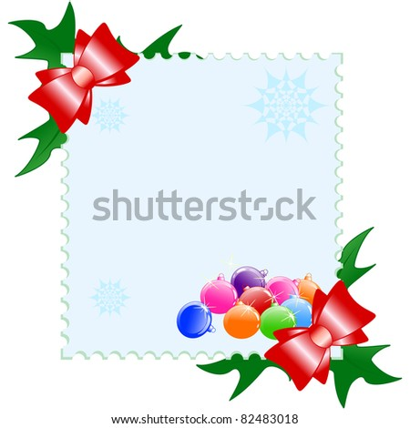 Vector illustration of a Christmas postcard