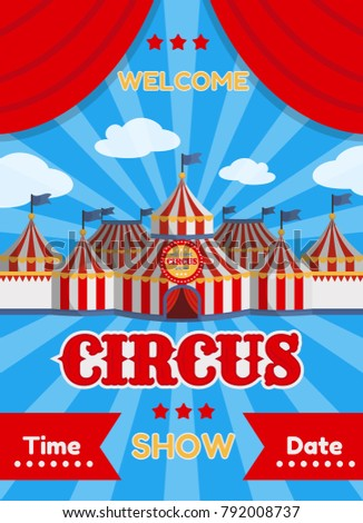 vector illustration of a circus ...