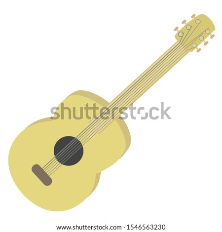 Vector illustration of a classical guitar