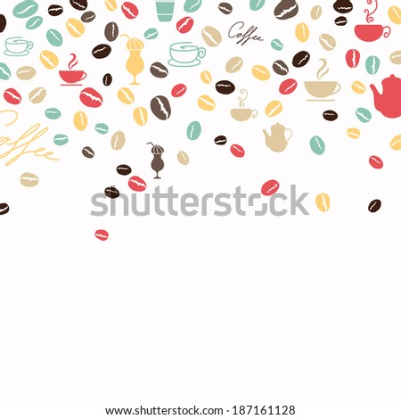 Vector Illustration of a Coffee Background #187161128
