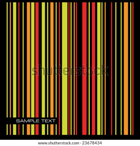Vector illustration of a colored stripes background with space for text.