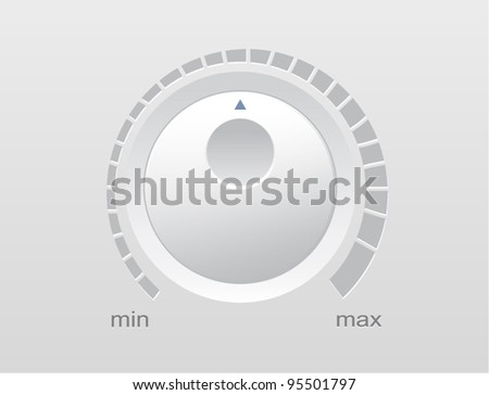 Vector illustration of a control knob used for regulating - stock vector