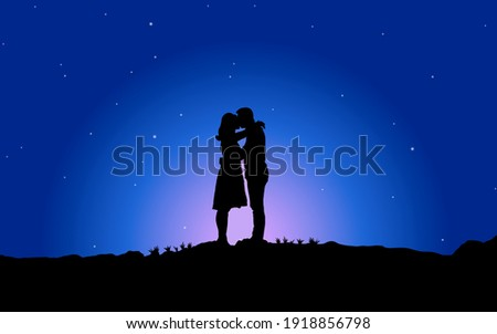 vector illustration of a couple
