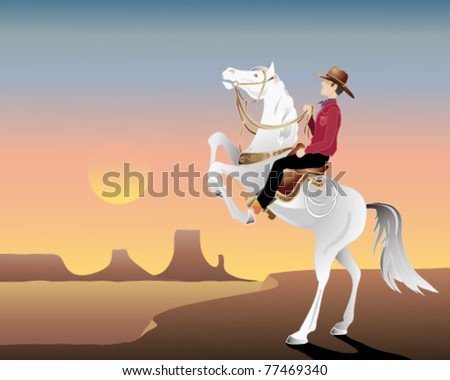vector illustration of a cowboy