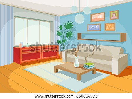 vector illustration of a cozy