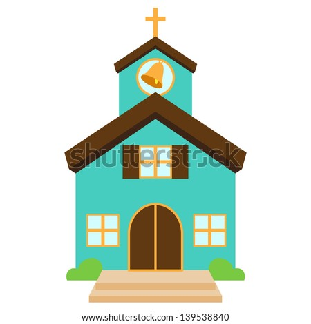 stock-vector-vector-illustration-of-a-cute-church-or-chapel