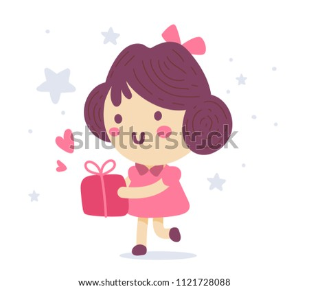 vector illustration of a cute