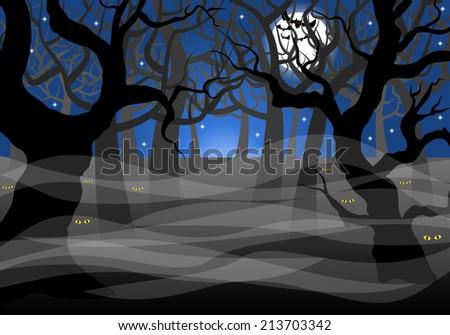 vector illustration of a dark