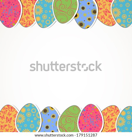 Vector Illustration of a Decorative Easter Background #179151287