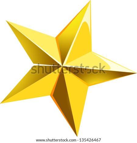 Vector illustration of a decorative star