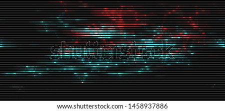 Vector Illustration of a distorted glitch background. Glitched glowing plexus structure in a style of 80's. Wallpaper in a cyberpunk style. Creative graphic design for poster,brochure,flyer and card.