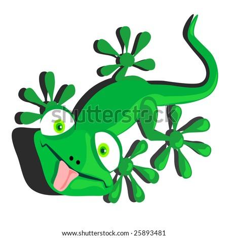 vector illustration of a dorky lizard