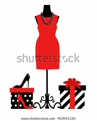 vector illustration of a dress