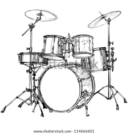 vector illustration of a drum