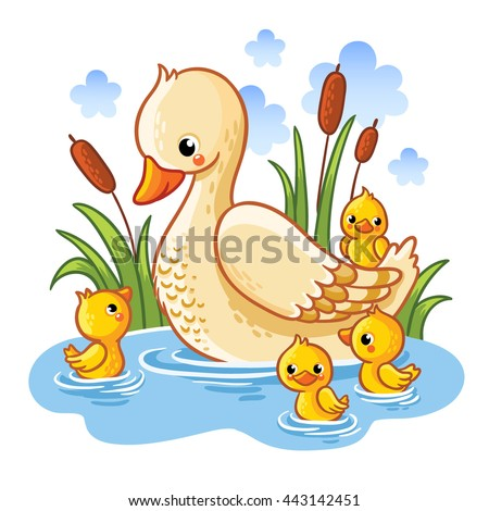 vector illustration of a duck