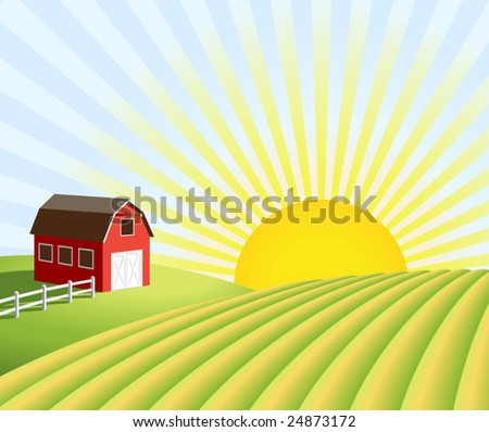 stock-vector-vector-illustration-of-a-farm-and-fields-at-sunrise-xl-jpeg-also-available-see-portfolio-24873172.jpg