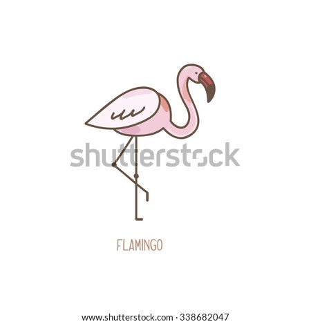 Hand drawn flamingo vectors download free vector art stock vector illustration of a flamingo isolated on white background pronofoot35fo Images