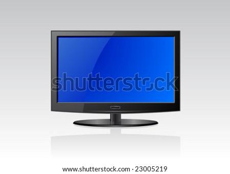 Vector illustration of a flat screen