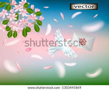 vector illustration of a flying