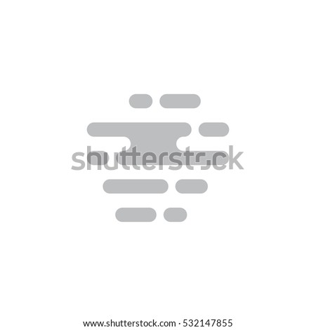 Vector illustration of a fog. Flat forecast icon of a fog.