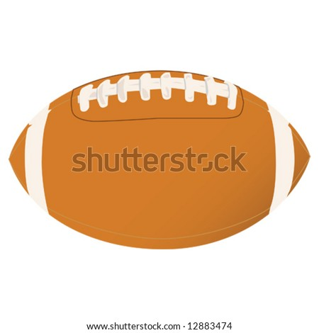 Vector illustration of a football