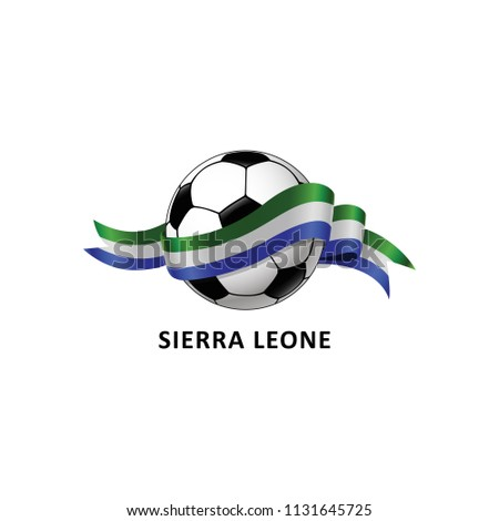 Vector Illustration of a Football – Soccer ball with the Sierra leone flag