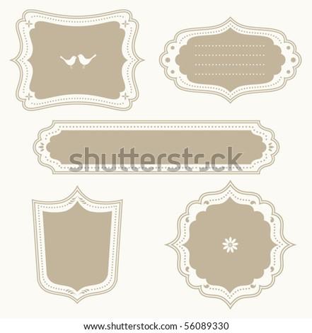 Vector illustration of a frame set.