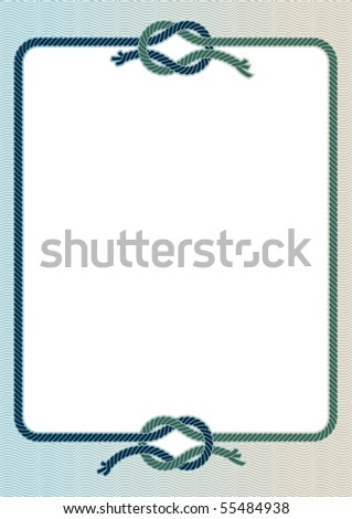 Vector illustration of a frame with with a sea knots.