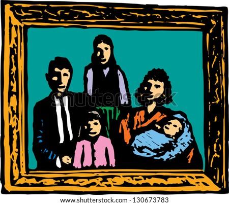 Framed Family Portrait Clipart