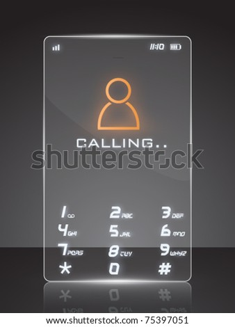 vector illustration of a futuristic cell phone