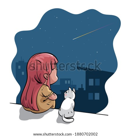vector illustration of a girl