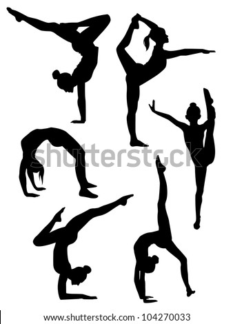 stock-vector-vector-illustration-of-a-girls-gymnasts-silhouettes