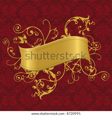 wallpaper gold. a gold banner with swirls