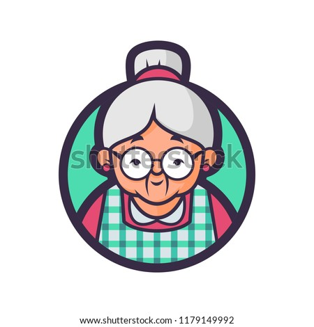 Vector illustration of a Grandma kitchen.