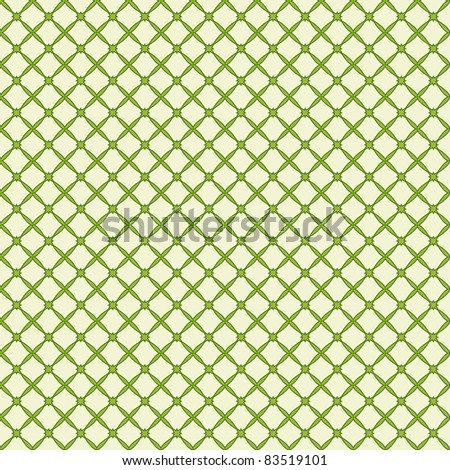 Vector illustration of a green abstract seamless pattern.